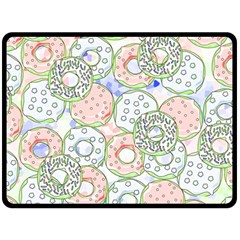 Donuts Pattern Double Sided Fleece Blanket (large)  by ValentinaDesign