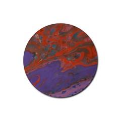 Purple Rain Img 1744 Rubber Round Coaster (4 Pack)  by friedlanderWann