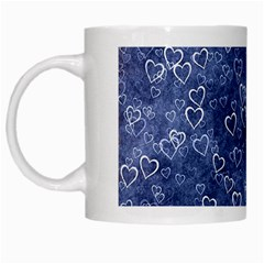 Heart Pattern White Mugs by ValentinaDesign