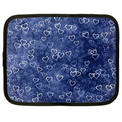 Heart Pattern Netbook Case (xxl)  by ValentinaDesign