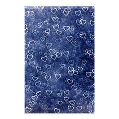 Heart Pattern Shower Curtain 48  X 72  (small)  by ValentinaDesign