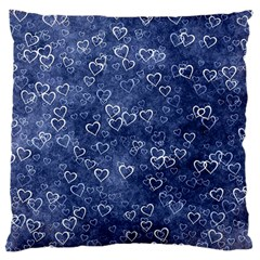 Heart Pattern Large Cushion Case (one Side) by ValentinaDesign