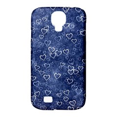 Heart Pattern Samsung Galaxy S4 Classic Hardshell Case (pc+silicone) by ValentinaDesign