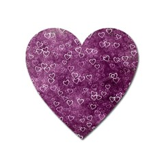 Heart Pattern Heart Magnet by ValentinaDesign
