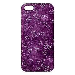 Heart Pattern Apple Iphone 5 Premium Hardshell Case by ValentinaDesign