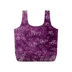 Heart Pattern Full Print Recycle Bags (s)  by ValentinaDesign