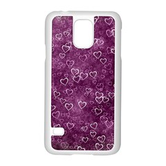 Heart Pattern Samsung Galaxy S5 Case (white) by ValentinaDesign