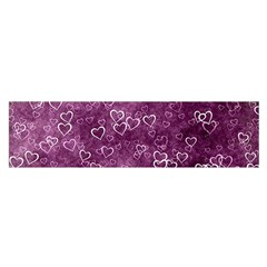 Heart Pattern Satin Scarf (oblong) by ValentinaDesign