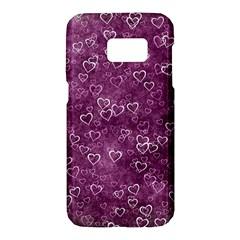 Heart Pattern Samsung Galaxy S7 Hardshell Case  by ValentinaDesign