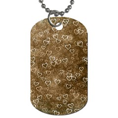 Heart Pattern Dog Tag (two Sides) by ValentinaDesign