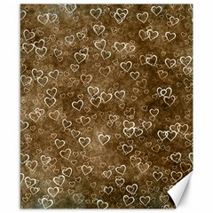 Heart Pattern Canvas 8  X 10  by ValentinaDesign