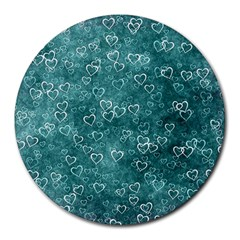 Heart Pattern Round Mousepads by ValentinaDesign