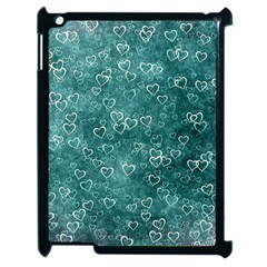 Heart Pattern Apple Ipad 2 Case (black) by ValentinaDesign