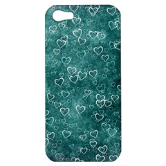 Heart Pattern Apple Iphone 5 Hardshell Case by ValentinaDesign