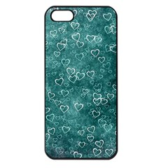 Heart Pattern Apple Iphone 5 Seamless Case (black) by ValentinaDesign