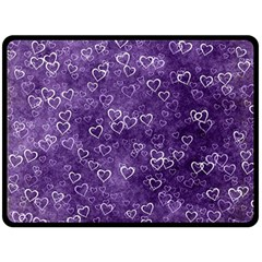 Heart Pattern Double Sided Fleece Blanket (large)  by ValentinaDesign