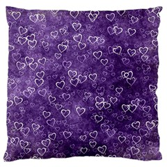 Heart Pattern Large Flano Cushion Case (one Side) by ValentinaDesign