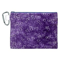Heart Pattern Canvas Cosmetic Bag (xxl) by ValentinaDesign