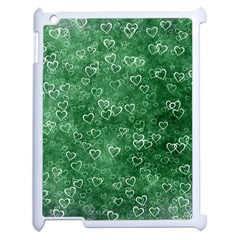 Heart Pattern Apple Ipad 2 Case (white) by ValentinaDesign