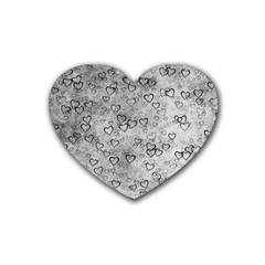 Heart Pattern Rubber Coaster (heart)  by ValentinaDesign
