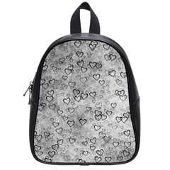 Heart Pattern School Bag (small) by ValentinaDesign