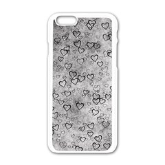 Heart Pattern Apple Iphone 6/6s White Enamel Case by ValentinaDesign
