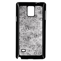 Heart Pattern Samsung Galaxy Note 4 Case (black) by ValentinaDesign