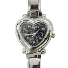 Heart Pattern Heart Italian Charm Watch by ValentinaDesign