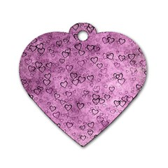 Heart Pattern Dog Tag Heart (two Sides) by ValentinaDesign