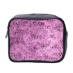 Heart Pattern Mini Toiletries Bag 2 Side by ValentinaDesign