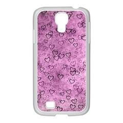 Heart Pattern Samsung Galaxy S4 I9500/ I9505 Case (white) by ValentinaDesign