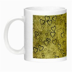 Heart Pattern Night Luminous Mugs by ValentinaDesign
