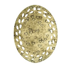 Heart Pattern Ornament (oval Filigree) by ValentinaDesign