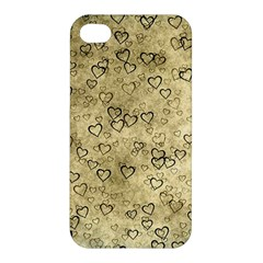 Heart Pattern Apple Iphone 4/4s Premium Hardshell Case by ValentinaDesign