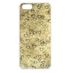 Heart Pattern Apple Iphone 5 Seamless Case (white) by ValentinaDesign
