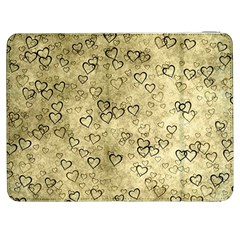 Heart Pattern Samsung Galaxy Tab 7  P1000 Flip Case by ValentinaDesign