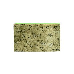Heart Pattern Cosmetic Bag (xs) by ValentinaDesign