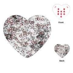 Heart Pattern Playing Cards (heart)  by ValentinaDesign