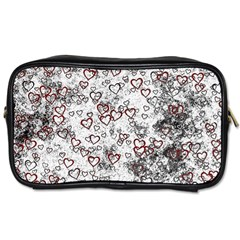 Heart Pattern Toiletries Bags 2 Side by ValentinaDesign