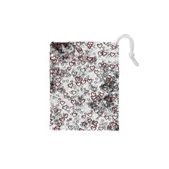 Heart Pattern Drawstring Pouches (xs)  by ValentinaDesign