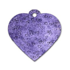 Heart Pattern Dog Tag Heart (one Side) by ValentinaDesign