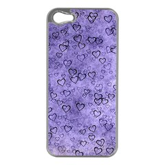 Heart Pattern Apple Iphone 5 Case (silver) by ValentinaDesign