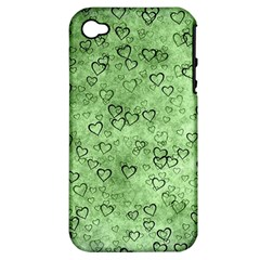 Heart Pattern Apple Iphone 4/4s Hardshell Case (pc+silicone)