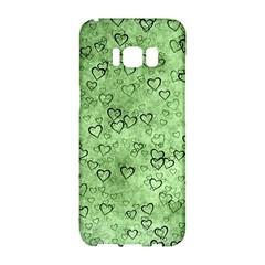Heart Pattern Samsung Galaxy S8 Hardshell Case  by ValentinaDesign