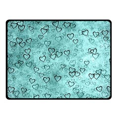 Heart Pattern Fleece Blanket (small) by ValentinaDesign