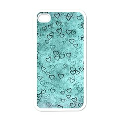 Heart Pattern Apple Iphone 4 Case (white) by ValentinaDesign