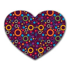 70s Pattern Heart Mousepads by ValentinaDesign