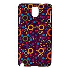70s Pattern Samsung Galaxy Note 3 N9005 Hardshell Case by ValentinaDesign