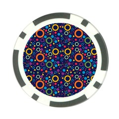 70s Pattern Poker Chip Card Guard by ValentinaDesign