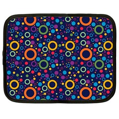 70s Pattern Netbook Case (large) by ValentinaDesign